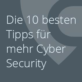 Die 10 besten Tipps für Cyber Security Daten Schutz Informationssicherheit Managed SOC