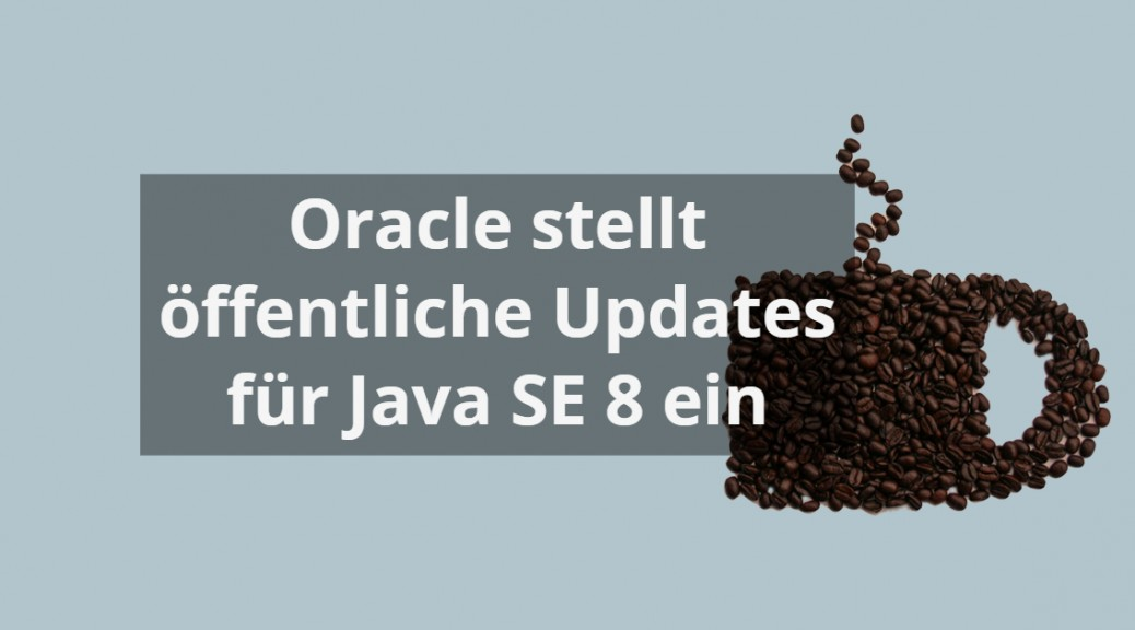 Tasse kaffeebohnen als Symbol Java Updates eingestellt von Oracle