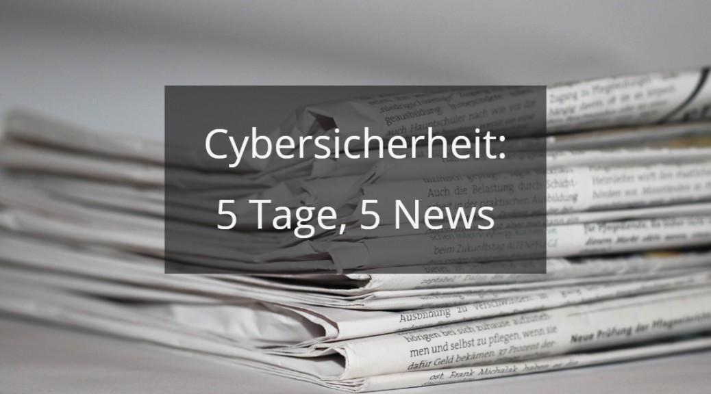 Aktuelle Mails und News zu Cybersicherheit