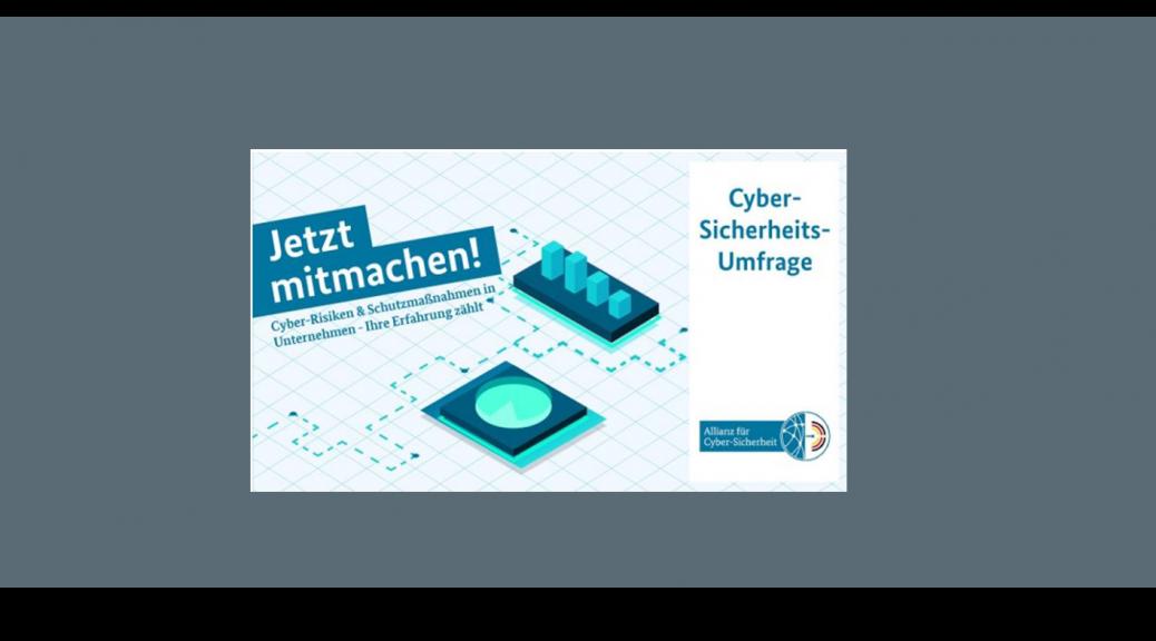 Umfrage BSI Cyber Allianz