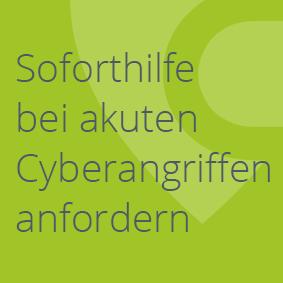 Soforthilfe bei Cyberangriffen